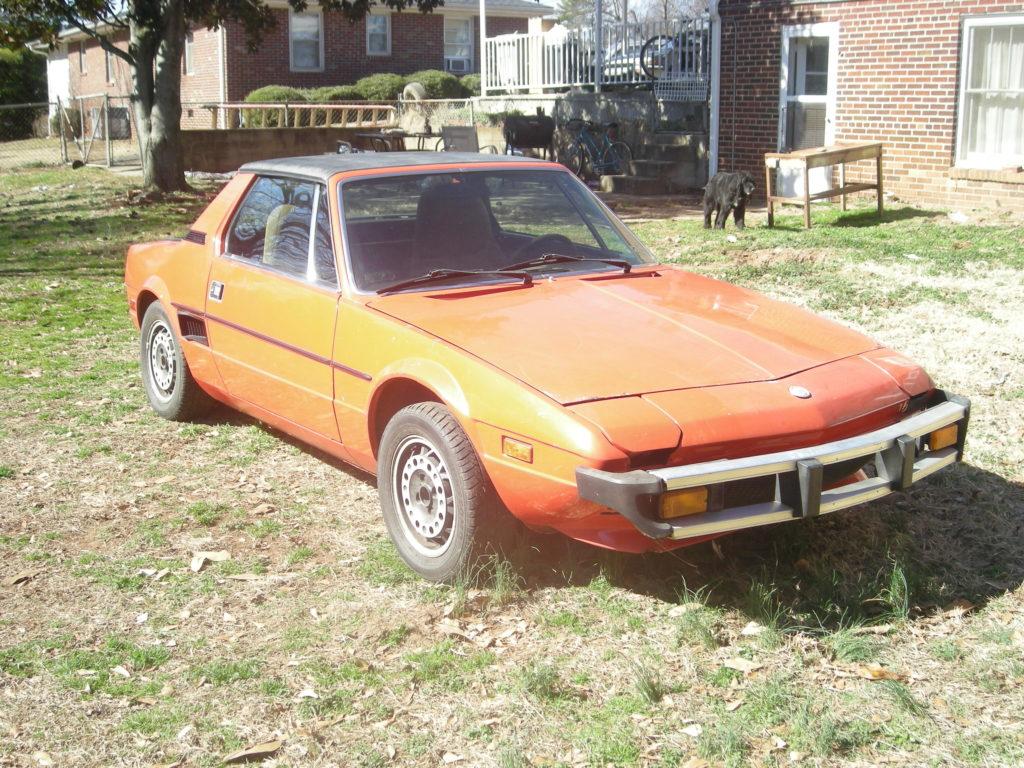 1977 fiat x1/9 project car