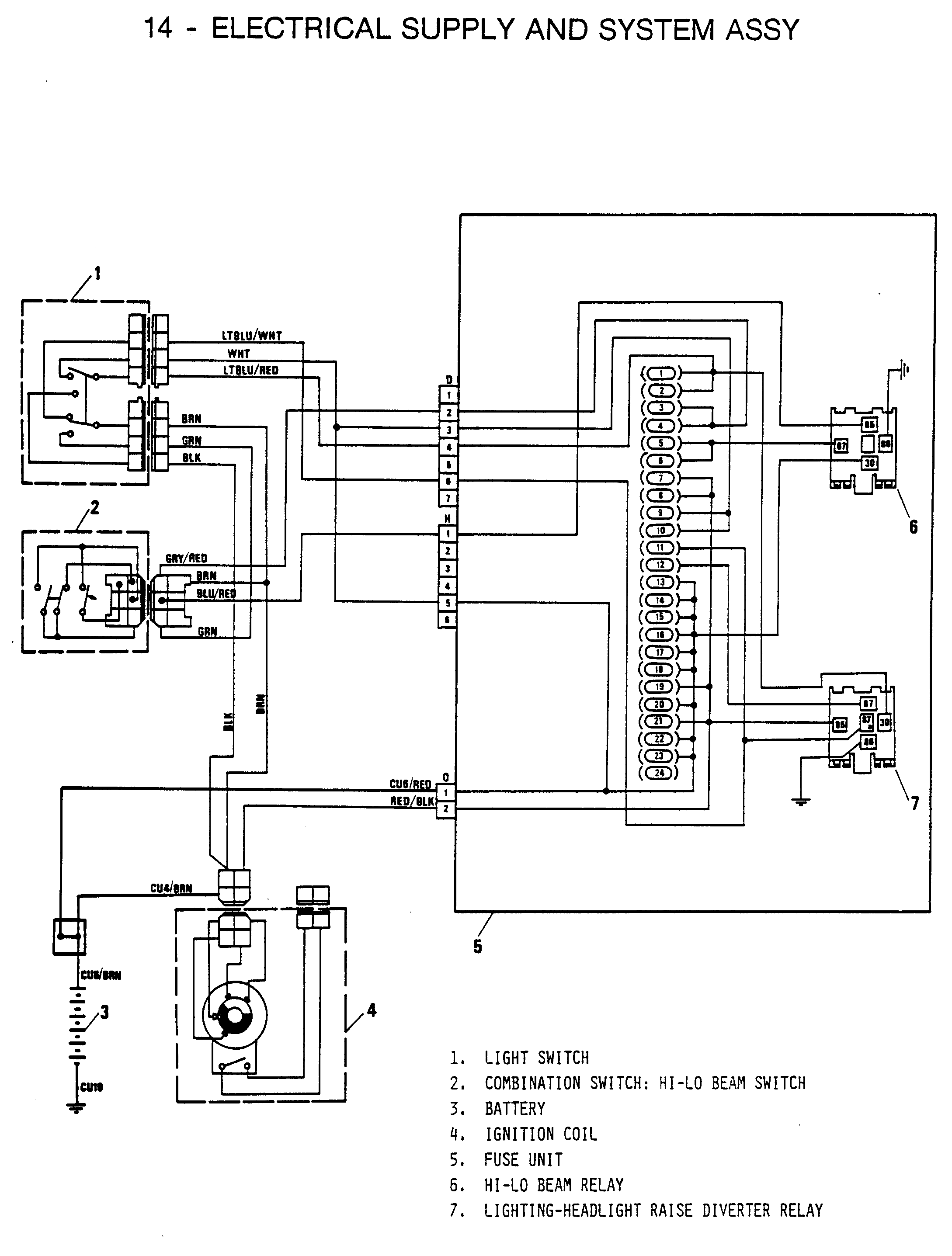 fiat x19 1300 wiring diagram